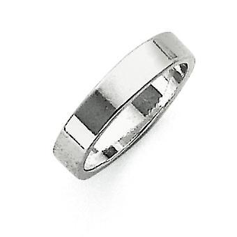925 Sterling Zilver Massief Gepolijst Engravable Lichtgewicht 4mm Platte Band Ring Sieraden Geschenken voor vrouwen - Ring Size: 4 tot 1