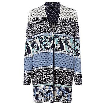 OLSEN Olsen Blue And Cream Cardigan 11003216