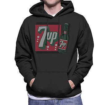 7up 1930s Vintage Bottle Design Men's Hooded Sweatshirt