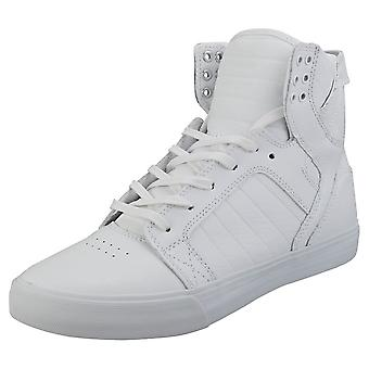 Supra Skytop Mens Fashion Trainers in Het Wit