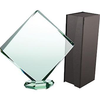 Trophée de verre avec la valise