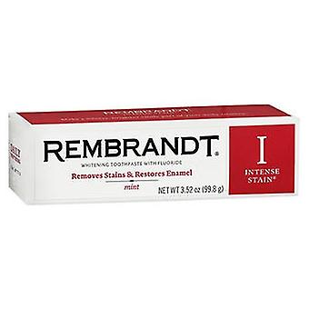 Rembrandt Intense Stain Whitening Toothpaste with Fluoride Mint, 3.52 Oz