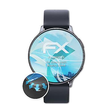 atFoliX 3x Écran protecteur compatible avec Smartwatch Display 43mm clair&flexible