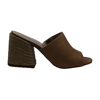 Steve Madden Women's Shoes Margo NuBuck Peep Toe Mules
