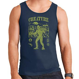 The Creature From The Black Lagoon Sunset Boat Men's Vest