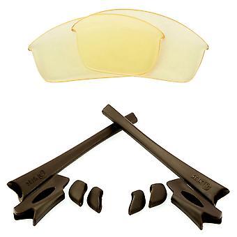Replacement Lenses & Kit for Oakley Flak Jacket Yellow & Brown Anti-Scratch Anti-Glare UV400 by SeekOptics