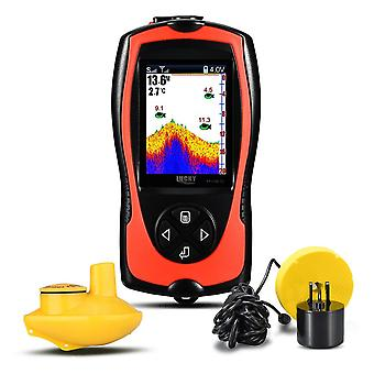 Portable Fish Finder For Ice Fishing, Depth Sonar Sounder Alarm, Waterproof