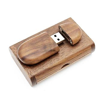 Wooden + Box Personal Logo Pendrive Flash Drive U Disk Memory