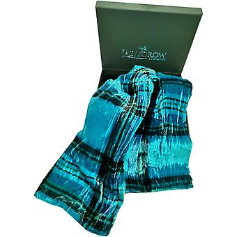 Tartan Silk Velvet Collection Sjaal door Ladycrow Scotland - Teal