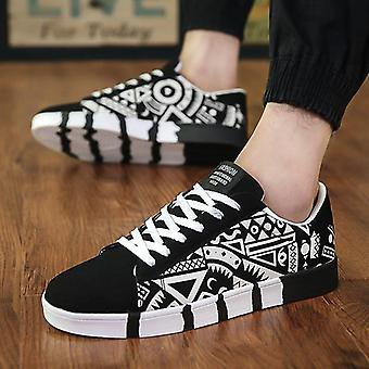 Winter New Vulcanized Casual Canvas Sports Shoes, Printing Students Running