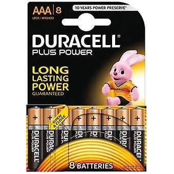 Alkalibatterien DURACELL Plus LR03 AAA 1.5V (8 Stück)