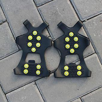 10 Studs Anti-skid Snow Ice Climbing Shoe Spikes Grips Crampons Cleats