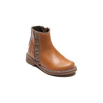BELLAMY Zipped Short Boot Tan
