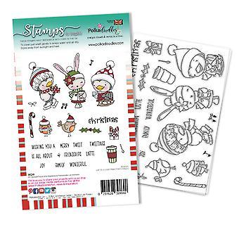 Polkadoodles Christmas Tweetings Clear Stamps