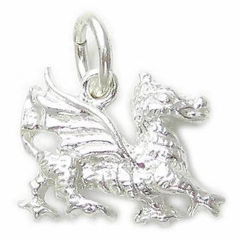 Dragon Wales Cymru Sterling Silver Charm .925 X 1 Dragons Charms - 4647