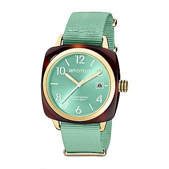 Briston 20240.PYA.T.29.NGW Clubmaster Classic Acetate Wristwatch Aqua Green
