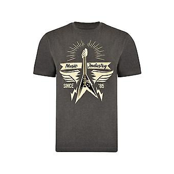 KAM Jeanswear Music Industry Print T-Shirt