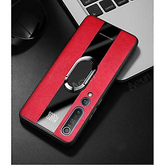 Aveuri Xiaomi Redmi Note 8 Leather Case - Magnetic Case Cover Cas Red + Kickstand