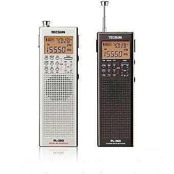 TECSUN PL360 المحمولة AM FM الموجة القصيرة PLL DSP ETM SW MW LW الجيب استقبال الراديو الرقمي
