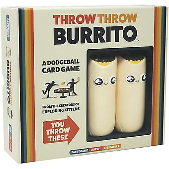 Official Throw Throw Burrito Game Family Card Games Party Fun Lockdown Quarantine UK