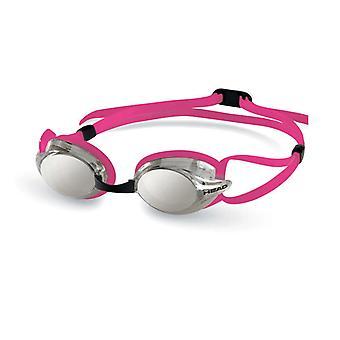 HEAD Venom Racing Swim Goggles - Smoke Mirrored Lens - Pink