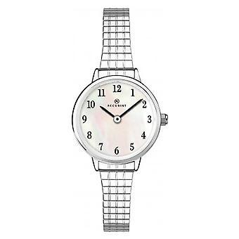 Accurist 8265 plata acero inoxidable señoras ampliando reloj