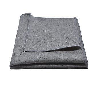 Papillon grigio medio stonewashed e Set quadrato tascabile