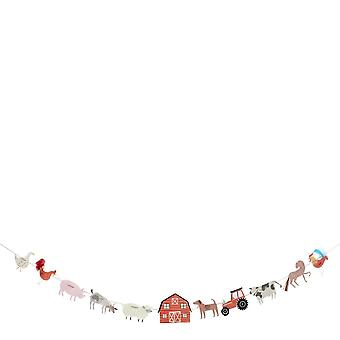 Meri Meri On the Farm Large Paper Party Garland 1.8m Decoration