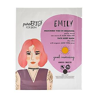 Emily Sheet Mask - Dry skin - Good Morning 1 unit (Aloe vera)