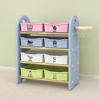Children Cabinet Furniture Toy Shelf  (sky Blue)