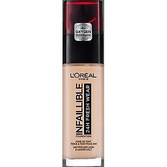 L'Oréal Paris Base de Maquillaje Infalible 24H Fersk slitasje Tono 25 Elfenben Rose