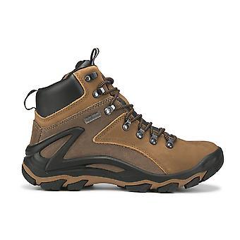 Brown 6 Inch Men's Waterproof Hiking Shoes Ks 257