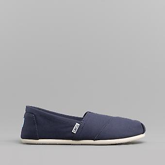 TOMS Alpargata 10000873 Ladies Canvas Slip On Shoes Navy