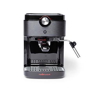 Mellerware Bari. Espresso kaffemaskine, Sort. Thermoblock system. 20bart tryk