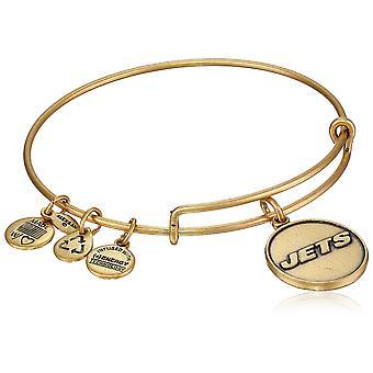 Alex And Ani New York Jets Logo Charm Rafaelian Gold Finish Bangle - AS13NYJ01RG