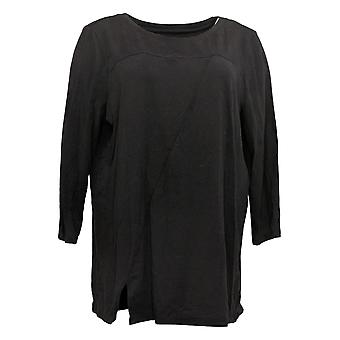 Anybody Women's Top Knit Asymmetrical Black A381285