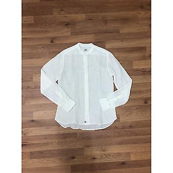CP Company Long Sleeve Grandad Collar Shirt - White
