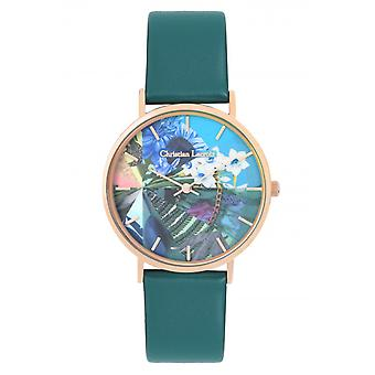 Christian Lacroix CLW302 Women's Watch - Couro Verde
