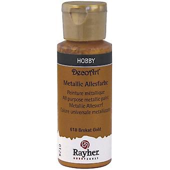 Wokex 38001618 Metallicfarbe, brokatgold, Flasche 59 ml, Acrylfarbe gold