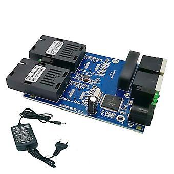 Ethernet Kuitukytkin 2 Rj45 Utp 2 Sc