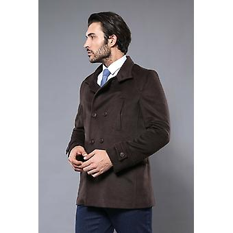 Double breasted brown cachet coat | wessi
