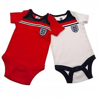 England FA 2 Pack Bodysuit 82 Retro 12-18 Months