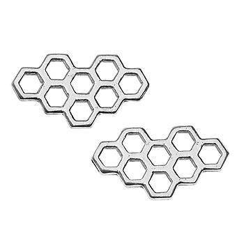 Forbindelsesforbindelse, Honeycomb Design 11x20.5mm, 2 links, antik sølv, af TierraCast