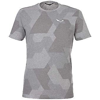 SALEWA Pattern, Men's S/s T-Shirt, Heather Grey Camo, 54/2X