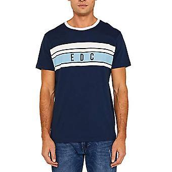 edc by Esprit 049cc2k022 T-Shirt, Blue (Navy 400), Large Men
