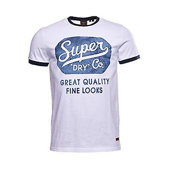 Superdry M1011202A Camiseta, Blanco Brillante, L Hombre