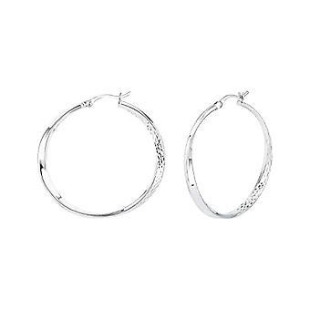 Amor - Women's hoop earrings, in glossy silver 925(2)