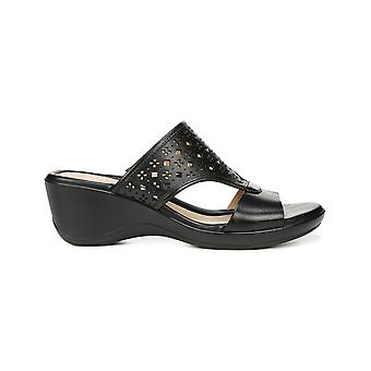 Naturalizer Womens TANISHA Leather Open Toe Casual Platform Sandals
