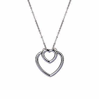 With Love - Dual Hearts Icons Collier - Prolongateur 40cm +3cm - Or - Cadeaux bijoux pour femmes de Lu Bella