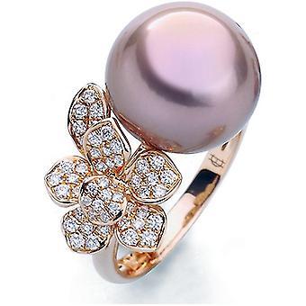 Luna-Pearls - Ring - Pearl Ring Brilliant - Rose Gold - 005.0995 Gr 56 (17.8mm)
